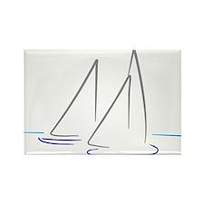 sailing Rectangle Magnet
