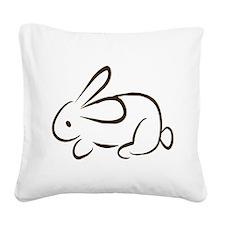 rabbit Square Canvas Pillow