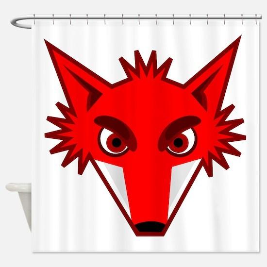 Fox Face Shower Curtain