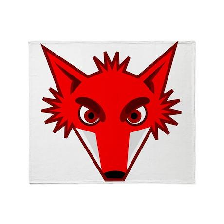 Fox Face Throw Blanket