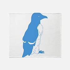 Blue Penguin Throw Blanket