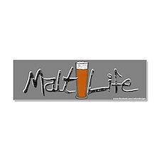 Malt Life (Beer) Car Magnet 10 x 3