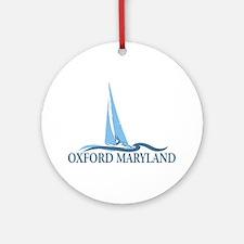 Oxford MD - Sailboat Design. Ornament (Round)