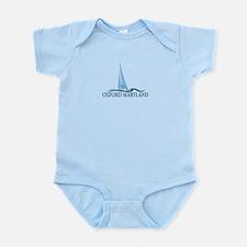 Oxford MD - Sailboat Design. Infant Bodysuit