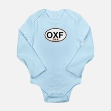 Oxford MD - Oval Design. Long Sleeve Infant Bodysu