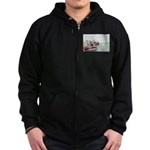 Zip Hoodie (dark):Drug Runner In 1970's Miami