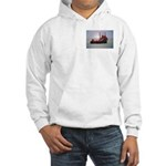 Hooded Sweatshirt:Refitted Supply Boat In Gulf