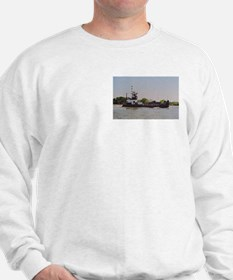 Sweatshirt:Towboat With Barge In GIWW