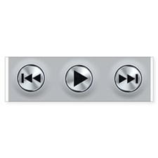 Play Buttons Bumper Sticker