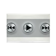 Play Buttons Rectangle Magnet
