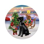 Treat for a Giant Schnauzer (bcr) Ornament (Round)