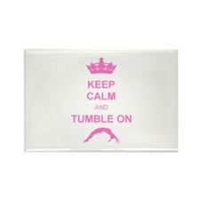 Keep calm and tumble pink Rectangle Magnet (10 pac