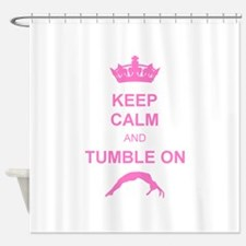 Keep calm and tumble pink Shower Curtain