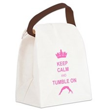 Keep calm and tumble pink Canvas Lunch Bag