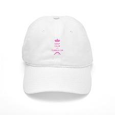 Keep calm and tumble pink Baseball Baseball Cap