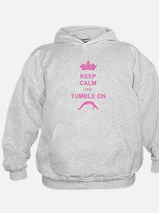 Keep calm and tumble pink Hoodie