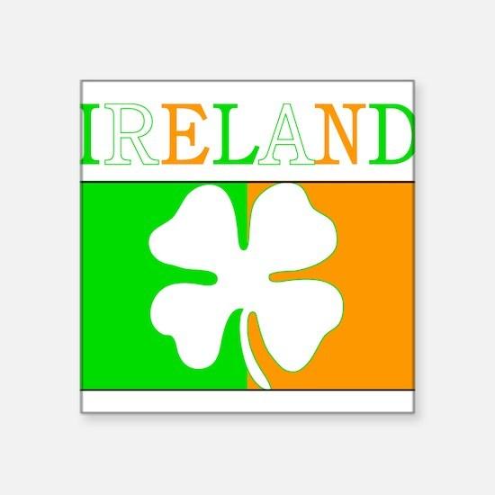 "Ireland Flag Square Sticker 3"" x 3"""