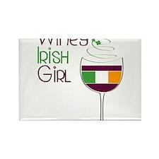 Winey Irish Girl Rectangle Magnet