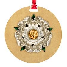 White Rose Of York Ornament