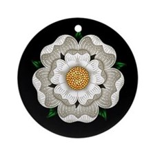 White Rose Of York Ornament (Round)