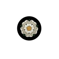 White Rose Of York Mini Button
