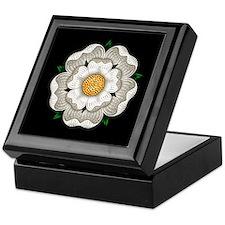 White Rose Of York Keepsake Box