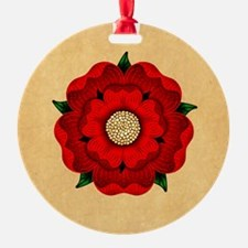 Red Rose Of Lancaster Ornament