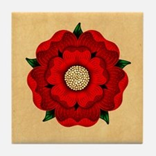 Red Rose Of Lancaster Tile Coaster