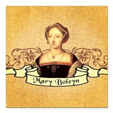 "Mary Boleyn Square Car Magnet 3"" x 3"""