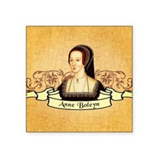 "Anne Boleyn Square Sticker 3"" x 3"""