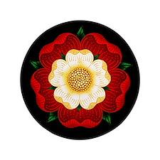 """Tudor Rose 3.5"""" Button"""
