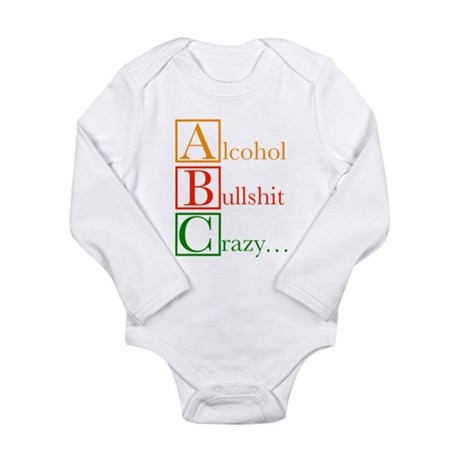 The REAL ABC's... Long Sleeve Infant Bodysuit