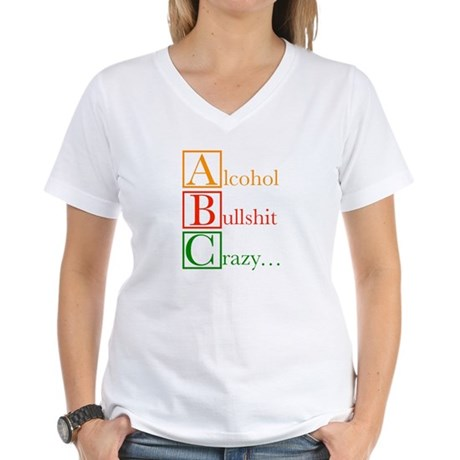 The REAL ABC's... Women's V-Neck T-Shirt