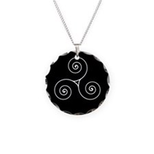 Triskele Necklace Circle Charm