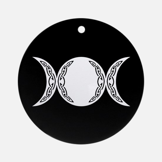 Triple Goddess Moon Symbol Ornament (Round)