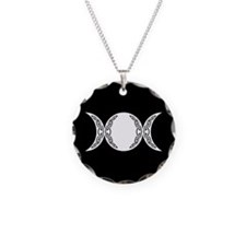 Triple Goddess Moon Symbol Necklace