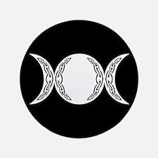 "Triple Goddess Moon Symbol 3.5"" Button"