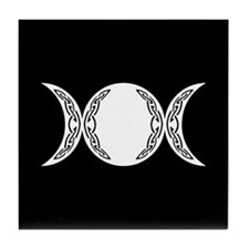 Triple Goddess Moon Symbol Tile Coaster