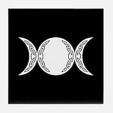 Triple Goddess Moon Symbol Tile Coaster