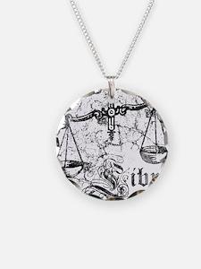Worn Zodiac Libra Necklace