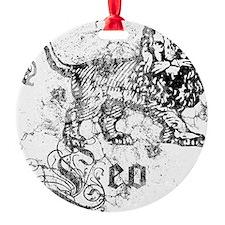 Worn Zodiac Leo Ornament