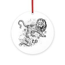 Worn Zodiac Leo Ornament (Round)