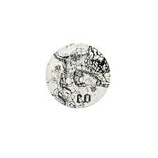 Worn Zodiac Leo Mini Button