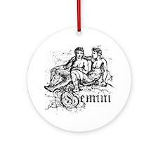 Worn Zodiac Gemini Ornament (Round)