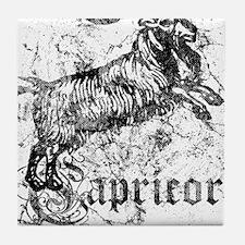 Worn Zodiac Capricorn Tile Coaster