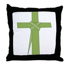 Palm Leaf Folded Throw Pillow