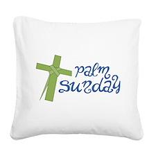 Palm Sunday Square Canvas Pillow
