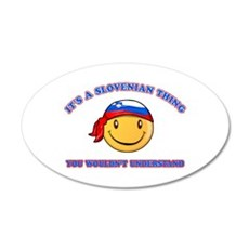 Slovenian Smiley Designs Wall Decal
