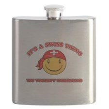 Swiss Smiley Designs Flask