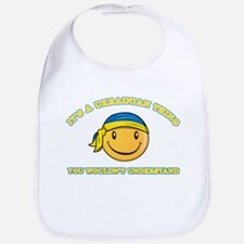 Ukrainian Smiley Designs Bib